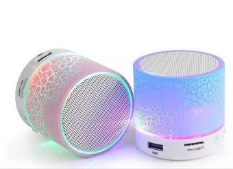 Speaker Bluetooth Mini Speaker Build-in Microphoneแพ็คคู่ รุ่น S60U (Blue/Pink)