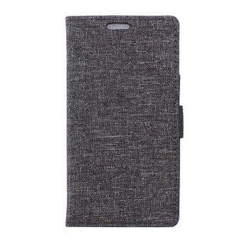 Harga Linen Texture Leather Wallet Case for Lenovo A7010 / Vibe X3 Lite / K4 Note - Grey - intl