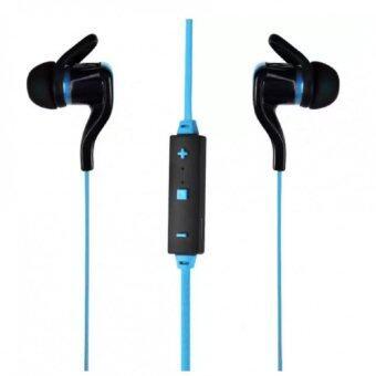 KS Bluetooth earphone หูฟังไร้สายแบบสอดหูสำหรับออกกำลังกาย พร้อมไมค์ ปรับเสียง รุ่น BT-30 - สีฟ้า