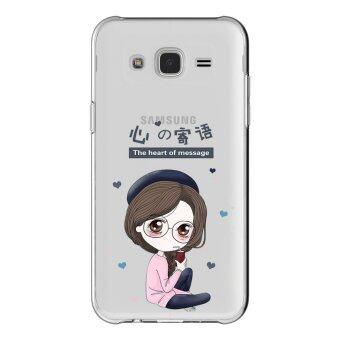 AFTERSHOCK TPU เคส Samsung Galaxy J7 2015 เคสโทรศัพท์พิมพ์ลาย The heart of message เนื้อบาง 0.33 mm