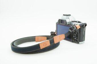 Aeskimo สายคล้องกล้อง Mirrorless รุ่น Aive Skinny Strap (Cotton) - สีน้ำเงิน Dark Navy Blue