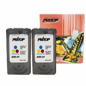 Pritop /Canon ink Cartridge 41/CL41/CL 41XL/CL-41XL /*2 pack ใช้กับปริ้นเตอร์ Canon Inkjet iP1200/iP1600/iP1700/iP1880/iP2580/MP145/MP150/MP160/MP228/MP450/MP460/MP476/MX308/MX318/iP1980
