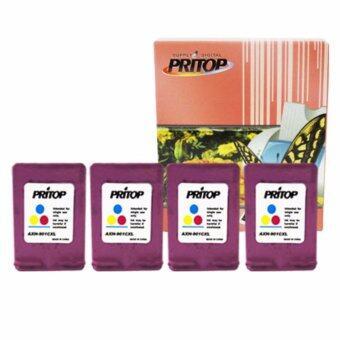 PRITOP HP Officejet J4580/J4580AiO/J4640/J4640AiO/J4680/J4680AiO ใช้ตลับหมึกอิงค์เทียบเท่า รุ่น 901CO-XL หมึกสีดำ 4 ตลับ