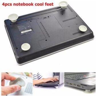 จุกรองโน็ตบุค ระบายความร้อน 4 ชิ้น สีเทา Laptop Heat Reduction Pad