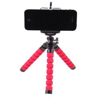 2559 กล้องดิจิตอลโทรศัพท์มือถือขาตั้งใส่ปลาหมึกบูธ+ยึดโทรศัพท์ (สีแดง)