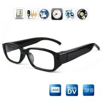 Babybearonline กล้องแว่นตา สายลับความละเอียด 720 P HD - สีดำ
