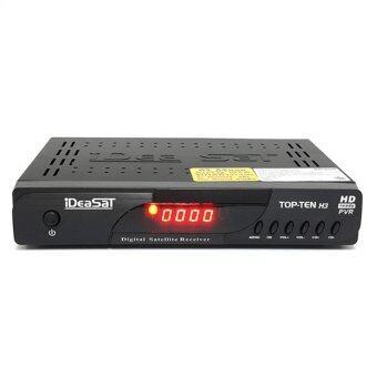 IDEASAT กล่องรับสัญญาณดาวเทียม HD รุ่น TOP-TEN H3 PLUS HD Bisskey (Black)