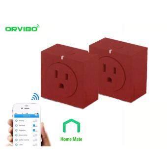 ปลั๊กไฟอัจฉริยะ เปิดปิดผ่านมือถือ วัดการใช้กระแสไฟ (สีแดง) 2 ตัว
