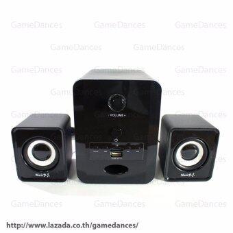 Music D.J. SP-28 ตู้ลำโพงบลูทูธ Bluetooth Speaker 2.1 CH รองรับ AUX/BT/TFCard 5W+3W x 2