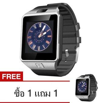 ATM Smart Watch Phone รุ่น A9 แพ็คคู่ 2 เรือน กล้องนาฬิกาบูลทูธ ใส่ซิมได้ Bluetooth Smart Watch SIM Card Camera (สีดำ)