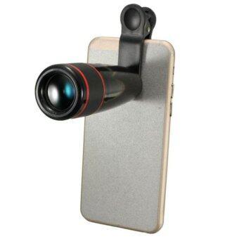 High Performance HD Universal 12X Zoom Clip-on Mobile Phone Telescope Black - intl ราคาถูกที่สุด ส่งฟรีทั่วประเทศ