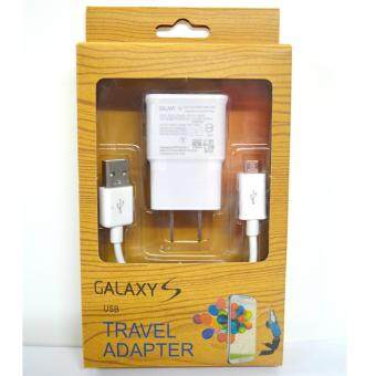Harga Samsung หัวชาร์จSamsung Galaxy noet 3/S4/S5/S6 Home Wall Charger (สีขาว)