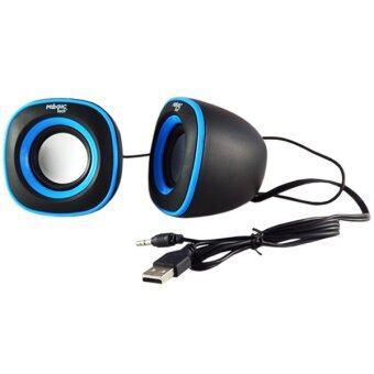 ART-TECH 2.0 Multimedia Speaker ลำโพงสำหรับ คอมพิวเตอร์, โน๊ตบุ๊ค, PSP, แท็บเล็ต, โทรศัพท์มือถือ (สีดำ/ฟ้า)