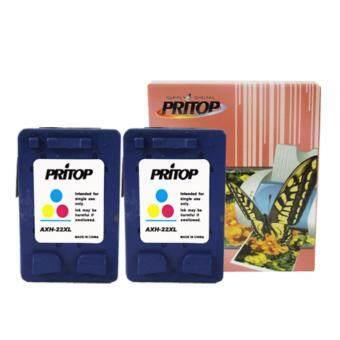 HP Ink Cartridge 22XL ตลับหมึกอิงค์เทียบเท่า Pritop หมึกสี 2 ตลับ