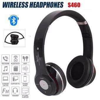 Stereo Wireless Bluetooth Headphone หูฟังบลูทูธ หูฟังไร้สาย หูฟังไอโฟน รุ่น S460 (black)