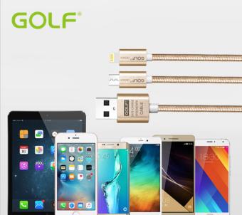 Golf สายชาร์จ ชาร์จพร้อมกันได้ 2 เครื่อง Charging & Data Transfer Twins 2 in 1 For iPhone / Samsung Android