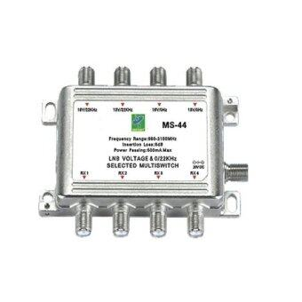 Mastersat Satellite Multiswitch รุ่น 4x4 (ไม่มี Adapter) สำหรับใช้กับดาวเทียม 2 ดวง ดูได้ถึง 4 จุด