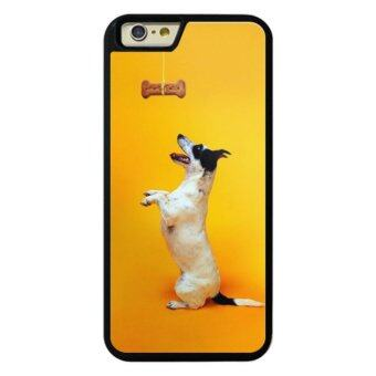 Harga Phone case for iPhone 6Plus/6sPlus Yellow Background with Funny Dogs cover for Apple iPhone 6 Plus / 6s Plus - intl