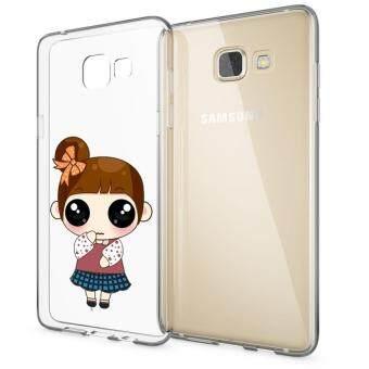 HugCase TPU เคส Samsung Galaxy A9เคสโทรศัพท์พิมพ์ลาย How are you เนื้อบาง 0.3 mm