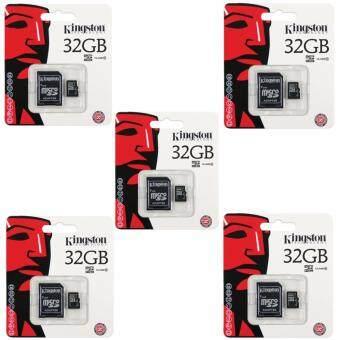 Kingston anny Kingston Memory Card Micro SD SDHC 32 GB Class 10 คิงส์ตัน เมมโมรี่การ์ด 32 GB รุ่น แพ็ค5ชิ้น