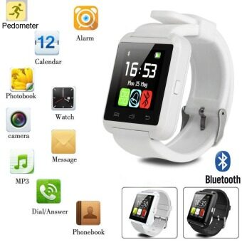 นาฬิกาข้อมือโทรศัพท์เพื่อนฉลาดบลูทูธสำหรับ iPhone IOS Android โทรศัพท์ Samsung ยู
