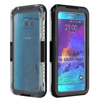 ซิลิโคนกันกระแทกกันน้ำทนทานเคสโทรศัพท์สำหรับ Samsung Galaxy Note 5 (สีดำ)