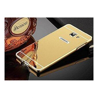 Case Samsung J7 prime เคสกระจก ราคาถูก พร้อมส่ง เคสซัมซุง New Bumper Mirror Case 2 in 1 Gold 18k 24k Aluminium Miror ขอบอลูมิเนียม ใหม่ สีทอง