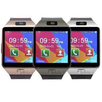smile C นาฬิกาโทรศัพท์ Smart Watch รุ่น DZ09 Phone Watch แพ็ค 3 ชิ้น (Gold/Sliver/Black)