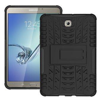 ไฮบริดป้องกัน TPU+PC เคสสำหรับ Samsung Galaxy Tab S2 T710 20.32ซม (สีดำ)