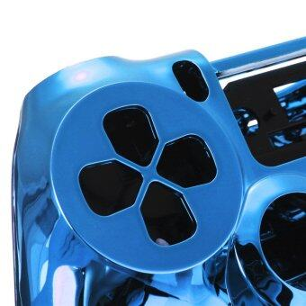 Chrome Skin Housing Shell Case Cover For Sony PlayStation 4 PS4 Controller Blue - Intl