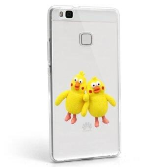 Hug Case TPU เคส Huawei P9 Lite เคสโทรศัพท์พิมพ์ลาย Yellow2 เนื้อบาง 0.3 mm