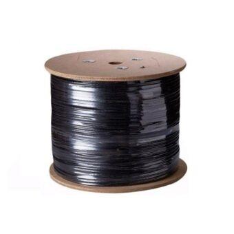 Mastersat สาย RG6 พร้อมสายไฟ สำหรับกล้องวงจรปิด CCTV Cable for AHD Analog ยาว 500 เมตร (สีดำ)