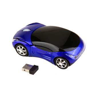 โอ้ 1000DPI ไร้สายสีน้ำเงินรถหนูออพติคอล (สีน้ำเงิน)