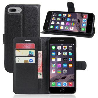ข่าวหนังอีกเคสบูธสำหรับ Apple iPhone 7 Plus-สีดำ