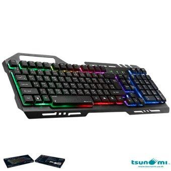 ข้อมูล Tsunami GK-09 Alloy Panel Backlight Gaming USB Wired Keyboard Gray นำเสนอ
