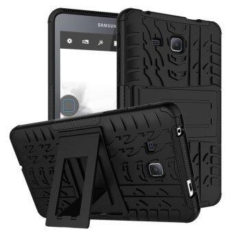 TPU+PC เกราะกำบังเคสไฮบริดสำหรับ Samsung Galaxy Tab A 2016 SM-T280 (สีดำ)