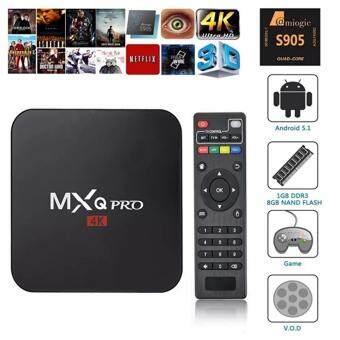 MXQ Pro 4K Android 5.1 สตรีมมิ่งมีเดีย Full HD 1080P กล่องสมาร์ททีวี(สีดำ)