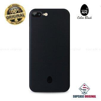 STONE AGE Color Block Collection Slim Fit Case 0.4 mm. ของแท้ สำหรับ iPhone 7 Plus สีดำ (Solid Black)