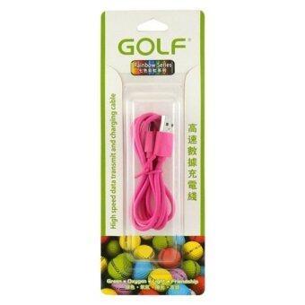 Golf สายชาร์ต Micro USB Golf ของแท้ 100% สีชมพู