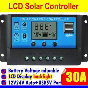 Digital Solar Charge Controller เครื่องควบคุมชาร์ตแบตเตอรี่จากแสงอาทิตย์ 30Amp.