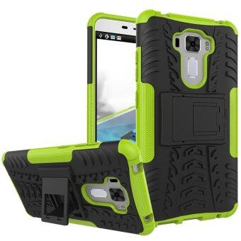 "Harga ZC551KL Case, Hard PC+TPU Shockproof Tough Dual Layer Cover Shell for ASUS Zenfone 3 Laser 5.5"", Green - intl"