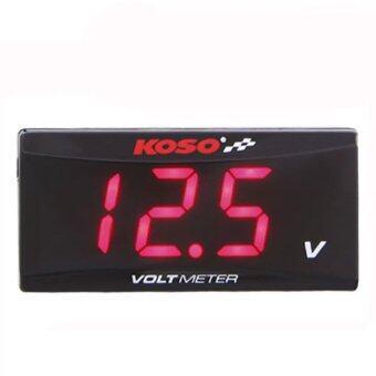 iBettalet KOSO Volt Meter สำหรับรถทุกประเภทไฟ (สีดำ)