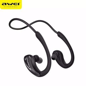 Awei หูฟังบลูทูธ สำหรับออกกำลังกาย Super BASS กันเหงื่อ กันน้ำ Bluetooth Sports Headphones รุ่น A880B