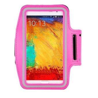 Center สายรัดแขนมือถือ Sports Armband Case Holder for iPhone 6/6S/6Plus (สีชมพู)