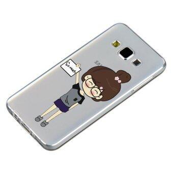 HugCase TPU เคส Samsung Galaxy A7 2015 เคสโทรศัพท์พิมพ์ลาย SO MUCH เนื้อบาง 0.3 mm