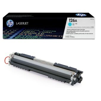 HP 126A Cyan Original LaserJet Toner Cartridge CE311A (สีน้ำเงิน)