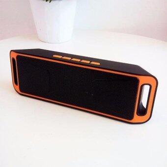 Megabass ลำโพงบลูทูธพกพา Music Wireless Speaker รุ่น A2DP (สีส้ม)