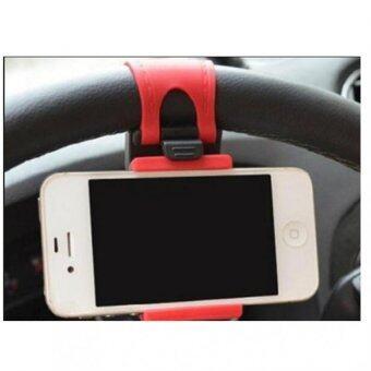 แท่นวางมือถือ ในรถยนตร์ CAR HOLDER และ ติดพวงมาลัยรถยนต์ - สีแดง