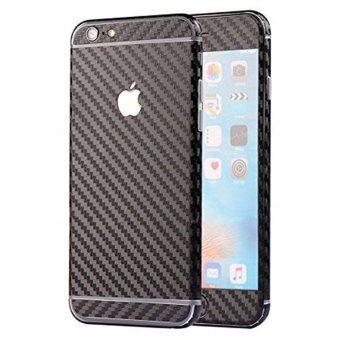 คาร์บอนไฟเบอร์แบบหรูหราหน้าเนียนปกปิดร่างกาย Sticke ฟิล์มย้อนกลับสำหรับ Apple iPhone 6( s) Plus (สีดำ)