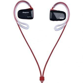 KS Bluetooth earphone หูฟังไร้สายแบบสอดหูสำหรับออกกำลังกาย รุ่น BT-60 (สีแดง)